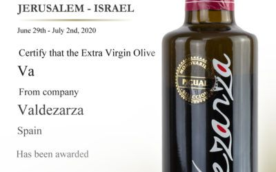 Gold medal awarded to Valdezarza's Picual EVOO