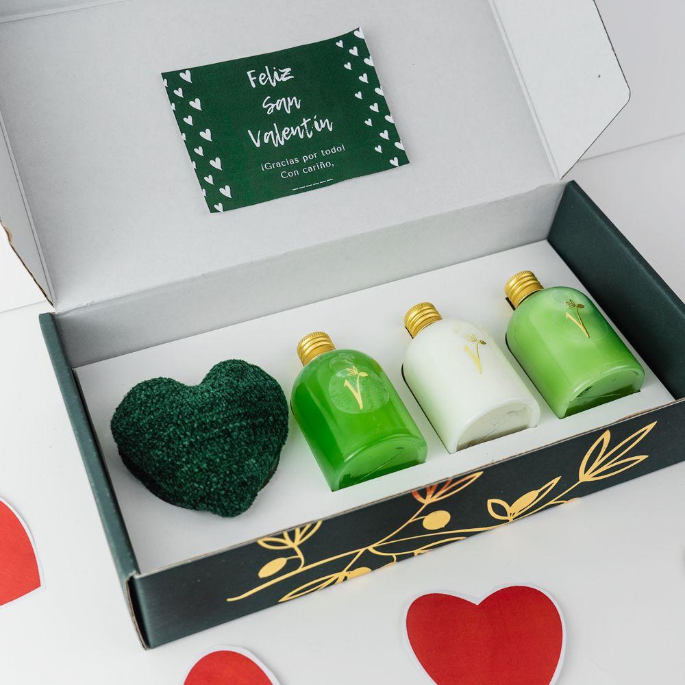 kit leche corporal gel champú especial san valentin valdezarza